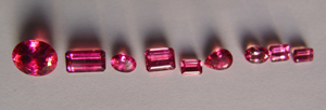 Tourmaline Rubelite treated A1 A2 A3