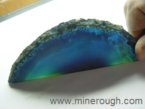 blue dyed agate