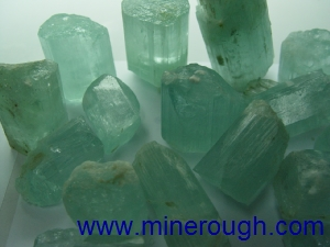 Milky aquamarine rough